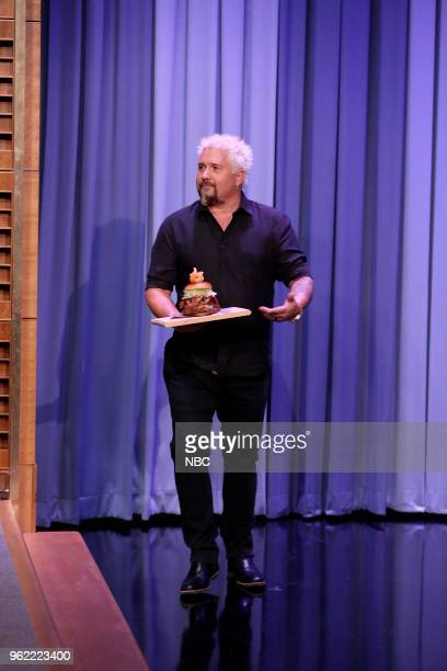 Guy Fieri arrives for an interview on May 24 2018