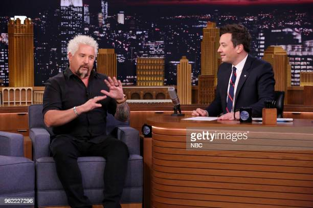Guy Fieri during an interview with host Jimmy Fallon on May 24 2018