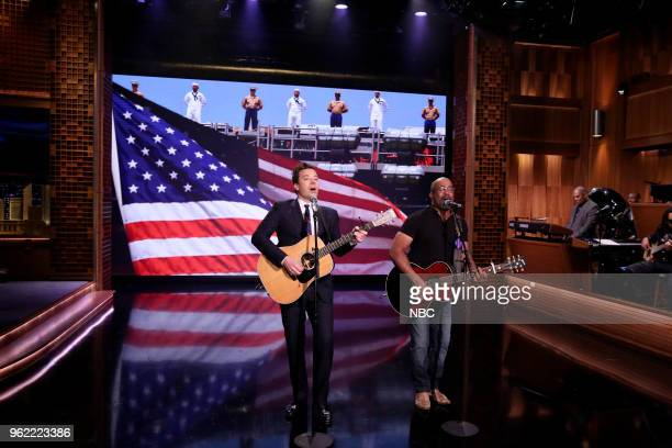 Jimmy Fallon and Darius Rucker perform 'I Only Want To Thank The Troops' on May 24 2018