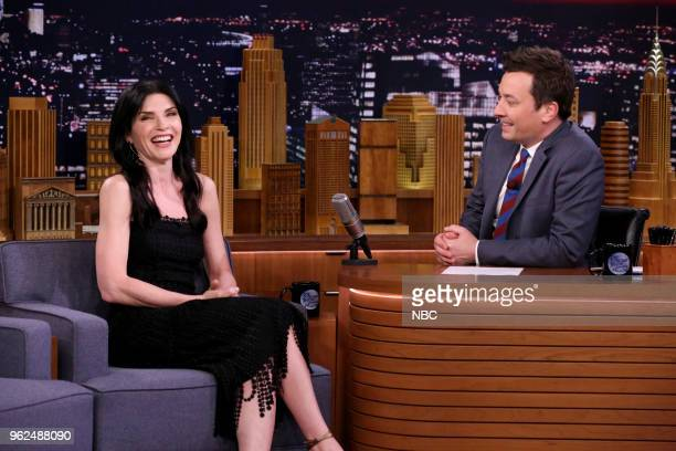 Actress Julianna Margulies during an interview with host Jimmy Fallon on May 25 2018