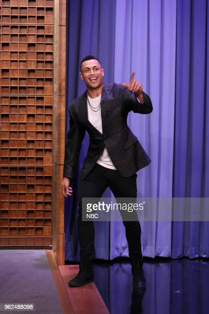 Athlete Giancarlo Stanton during an interview on May 25 2018