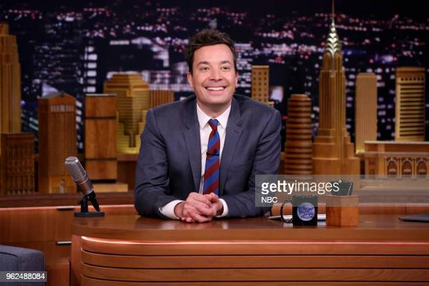 Host Jimmy Fallon at the desk on May 25 2018