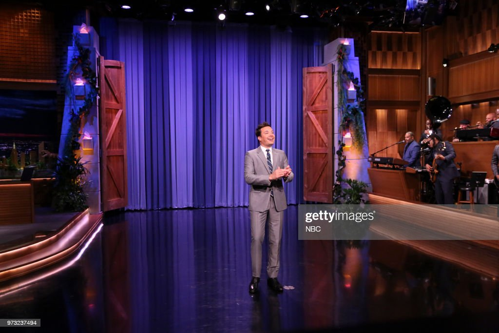 Host Jimmy Fallon during the Opening Monologue on June 12, 2018 --