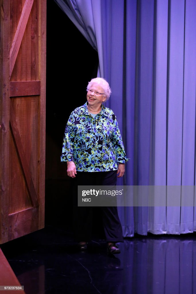 Mrs. Joanne Rogers arrives for an interview on June 12, 2018 --