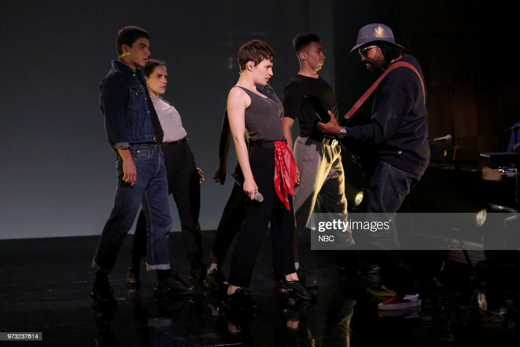 Musical Guest Christine and the Queens featuring Dam-Funk perform 'Girlfriend' on June 12, 2018 --