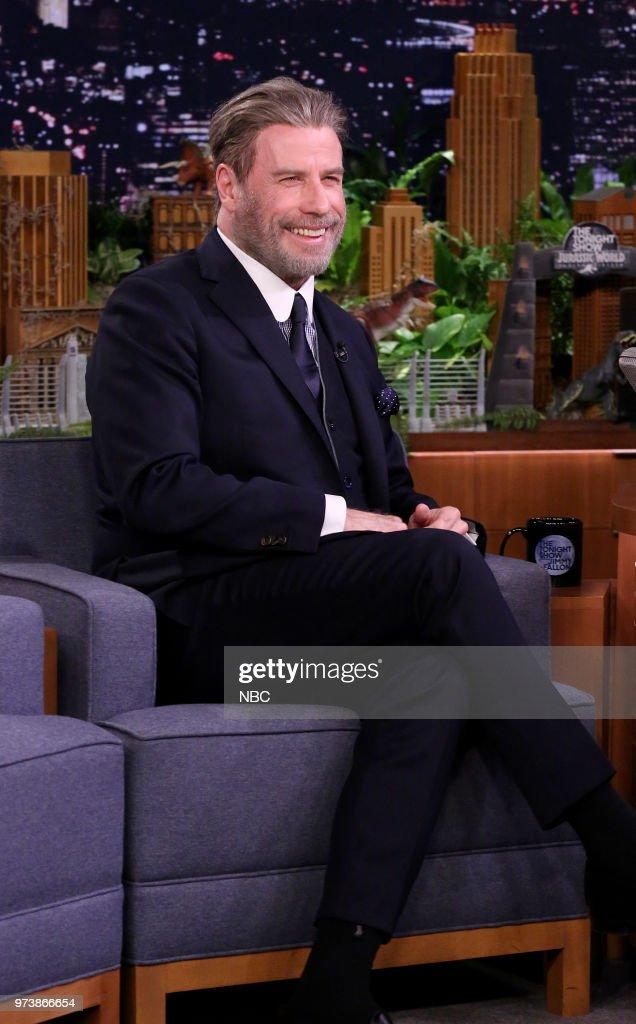 Actor John Travolta during an interview on June 13, 2018 --