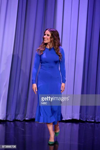 Actress Sophia Bush arrives for an interview on June 13 2018