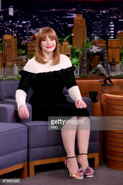 Actress Bryce Dallas Howard during an interview on June 15 2018