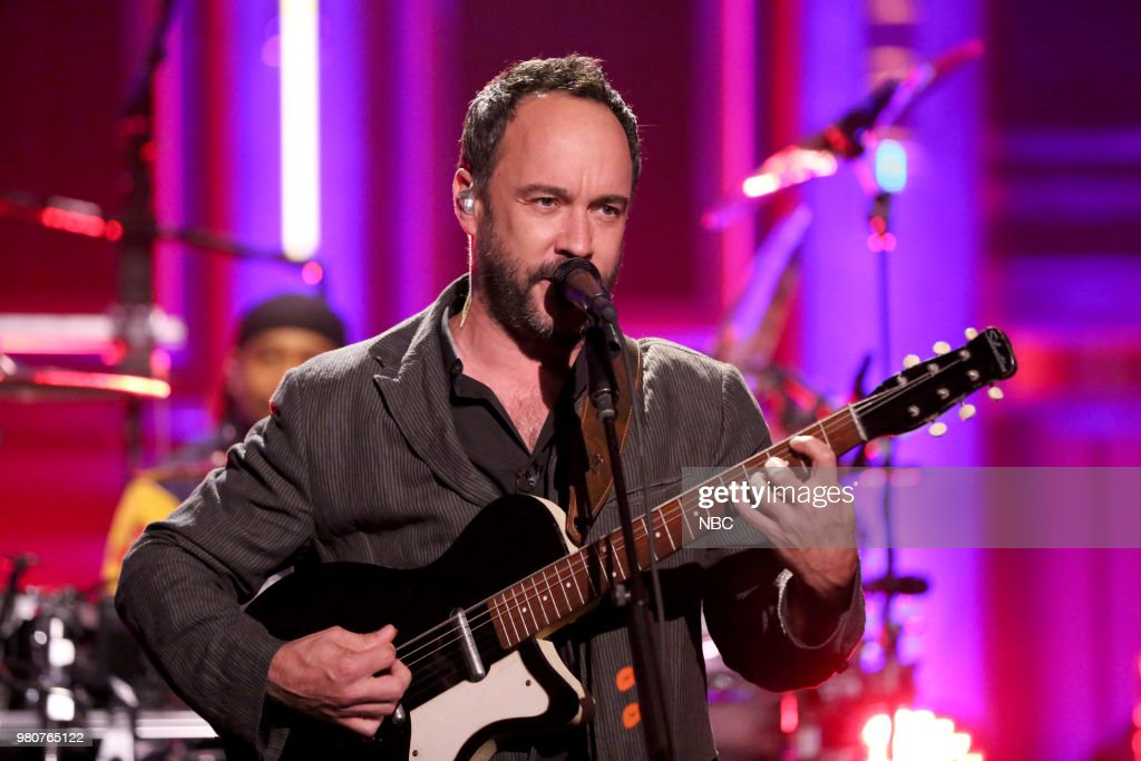 "NBC's ""Tonight Show Starring Jimmy Fallon"" with Guests Michael Strahan, Dave Matthews, Dave Matthews Band"
