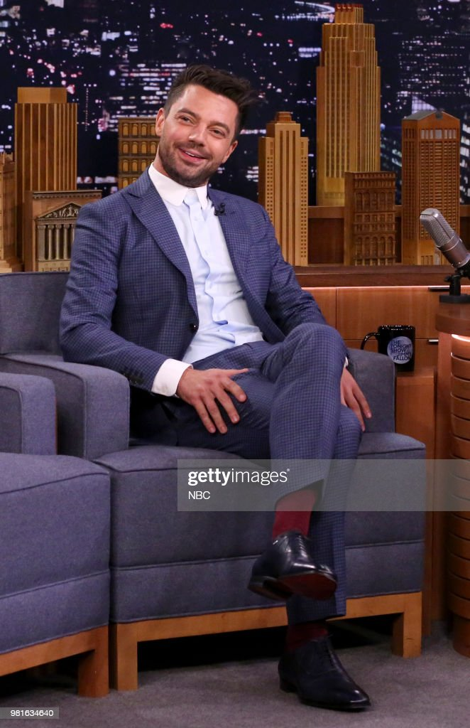 Actor Dominic Cooper during an interview on June 22, 2018 --