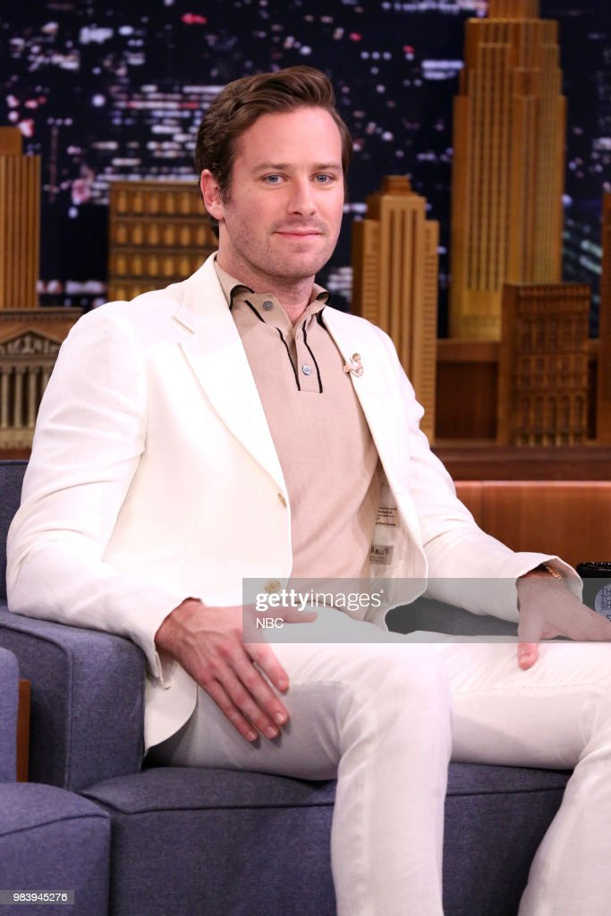Actor Armie Hammer during an interview on June 25, 2018 --
