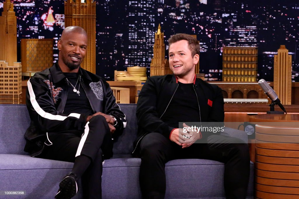 "NBC's ""Tonight Show Starring Jimmy Fallon"" with Guests Jamie Foxx, Taron Egerton, Zoey Deutch, Mark Normand"