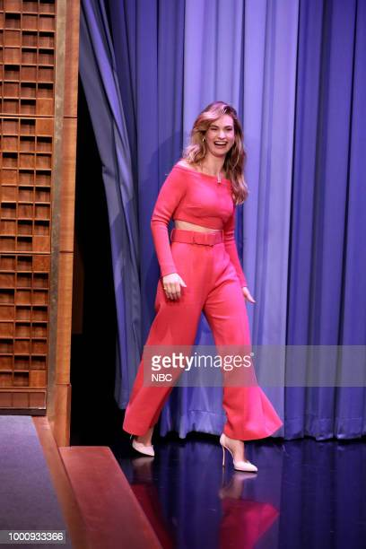 Actress Lily James during an interview on July 17 2018