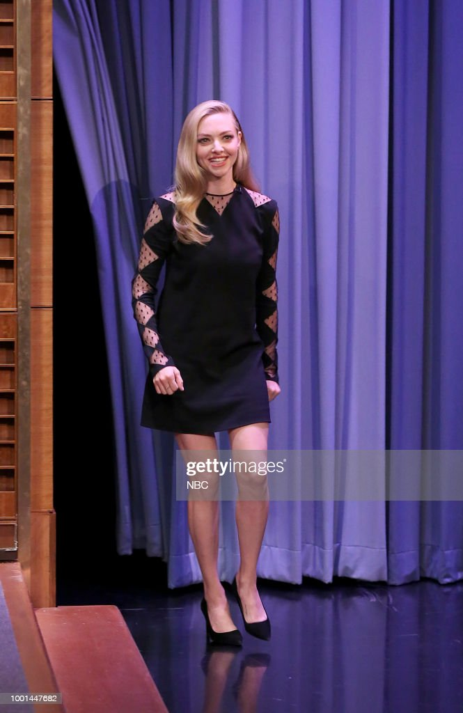 Actress Amanda Seyfried during an interview on July 18, 2018 --