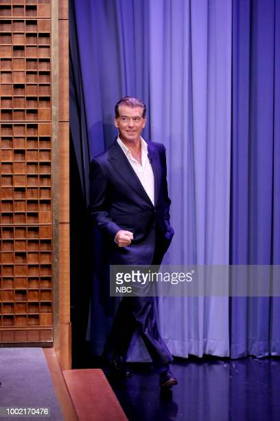 Actor Pierce Brosnan during an interview on July 19 2018