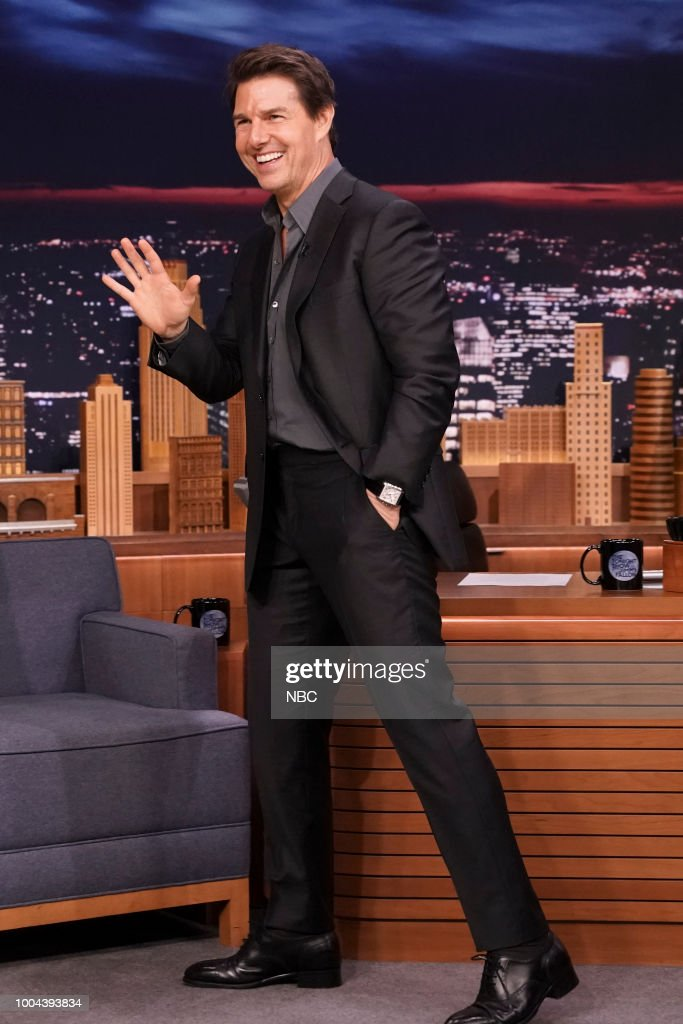 """NBC's """"Tonight Show Starring Jimmy Fallon"""" with Guests Tom Cruise, Parker Posey, Jorja Smith"""