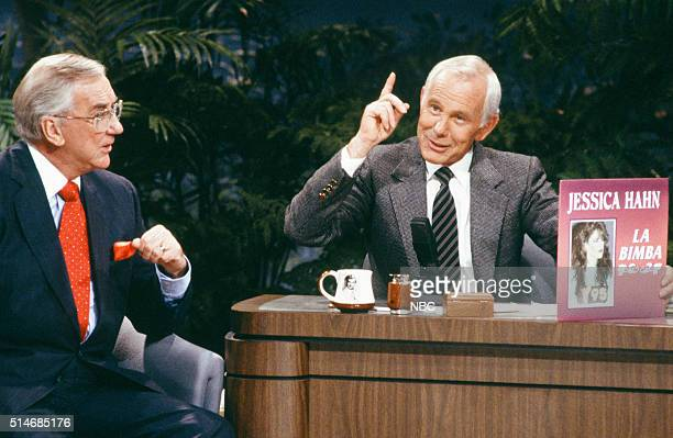 Announcer Ed McMahon and host Johnny Carson on September 1 1988