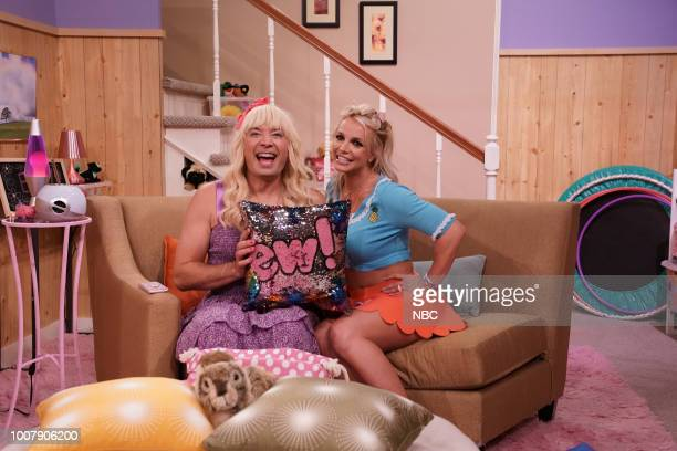 Jimmy Fallon as Sara Britney Spears as Abby during Ew on July 26 2018