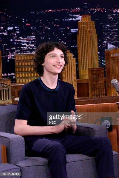 Actor Finn Wolfhard during an interview on August 6 2018