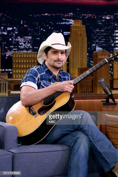 Musician Brad Paisley during an interview on August 9 2018