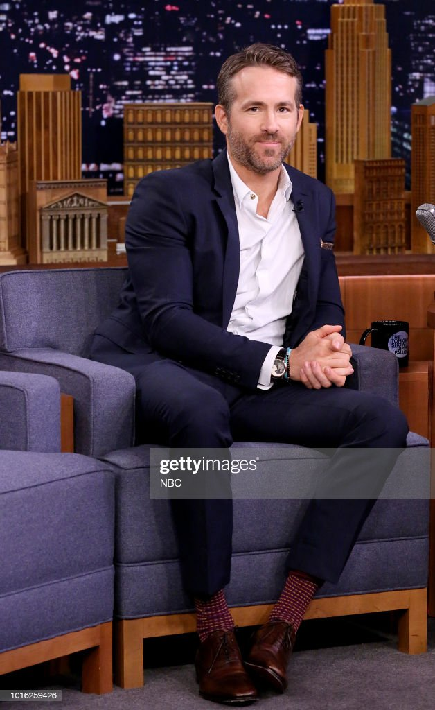 "NBC'S ""The Tonight Show Starring Jimmy Fallon"" With Guests Ryan Reynolds, Chris O'Dowd, August Greene"