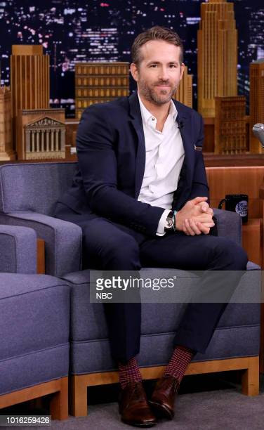 Actor Ryan Reynolds during an interview on August 13 2018