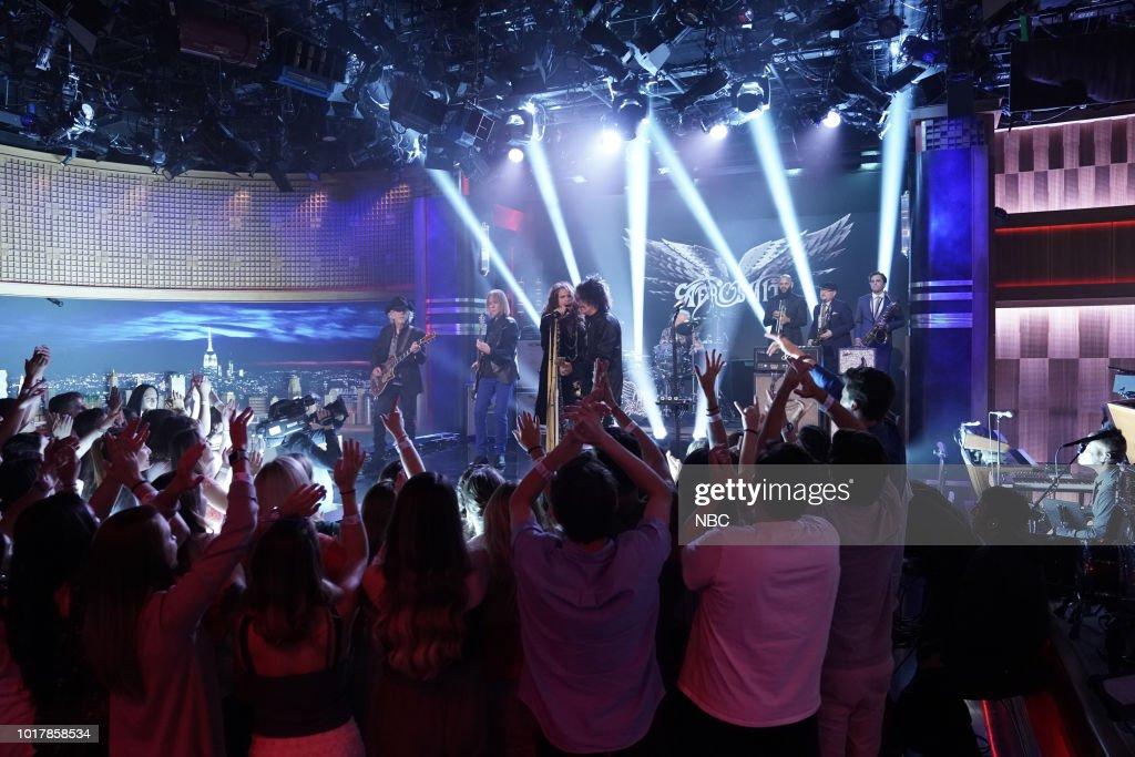 "NBC'S ""The Tonight Show Starring Jimmy Fallon"" With Guests Ariana Grande, Nick Kroll, Aerosmith"