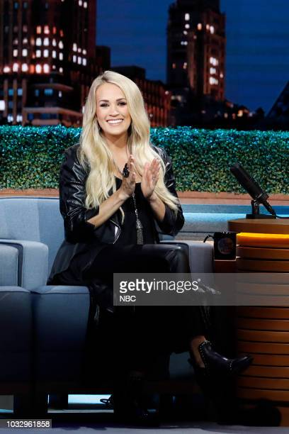 Episode 0924 -- Pictured: Singer Carrie Underwood during an interview on September 13, 2018 --