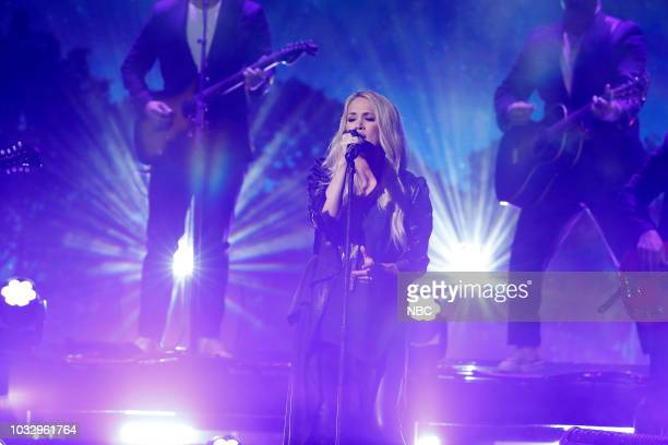 Singer Carrie Underwood performs 'Love Wins' on September 13 2018