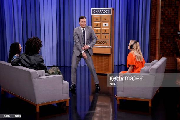 during Zoe Kravitz Lenny Kravitz Jimmy Fallon Reese Witherspoon during 'Lip Sync Charades' on September 17 2018