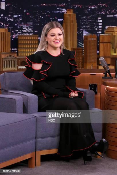 Singer Kelly Clarkson during an interview on September 18 2018