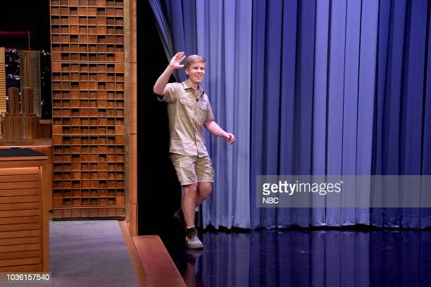 CoHost Comedian Kevin Hart Animal Expert Robert Irwin during an appearance on September 19 2018