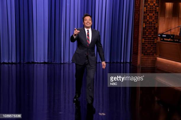 Host Jimmy Fallon during the opening monologue on September 24 2018