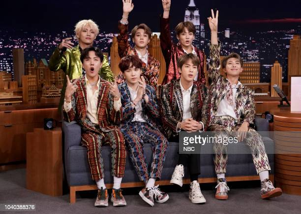 Band BTS during an interview on September 25 2018