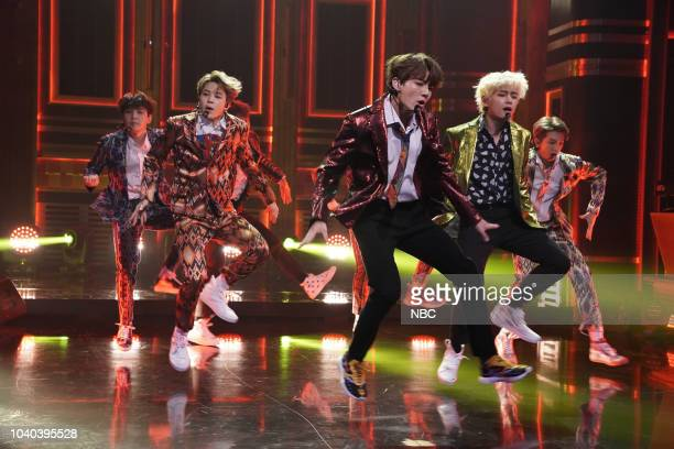 Band BTS performs Idol on September 25 2018