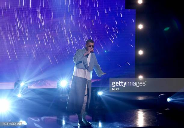 Musical Guest Bad Bunny performs Estamos Bien on September 26 2018