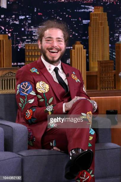 Rapper Post Malone during an interview on October 1 2018