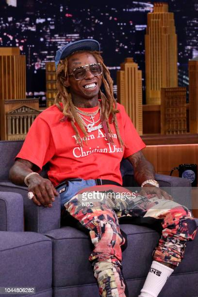 Rapper Lil Wayne during an interview on October 2 2018