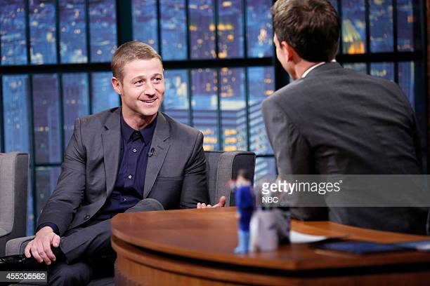 Actor Ben McKenzie during an interview with host Seth Meyers on September 10 2014