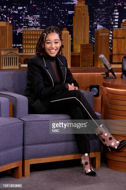 Actress Amandla Sternberg during an interview on October 10 2018