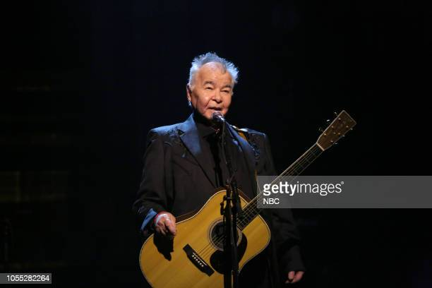 Musical guest John Prine performs on October 29 2018