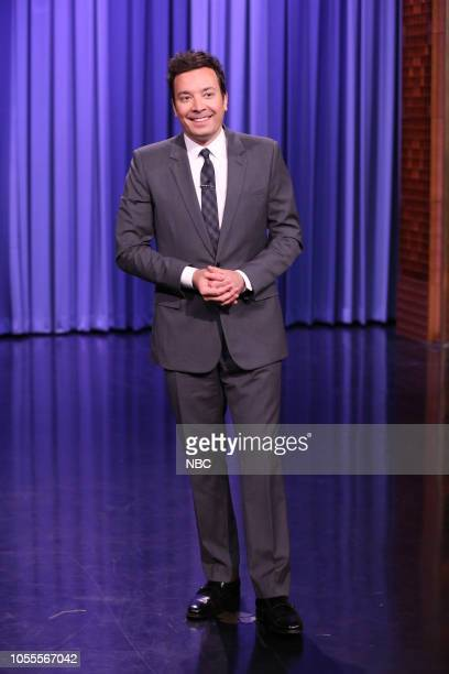 Episode 0951 -- Pictured: Host Jimmy Fallon during the Monologue on October 30, 2018 --