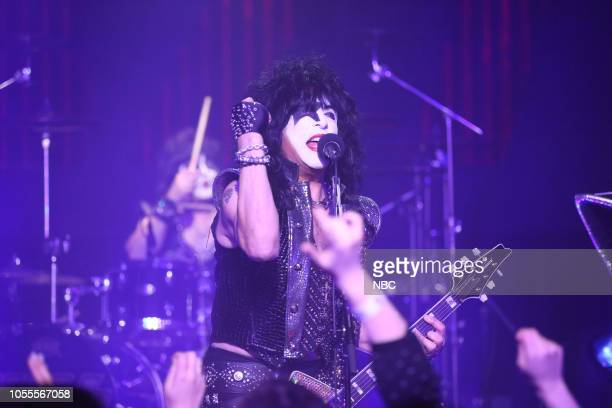 Paul Stanley of Musical Guest KISS performs on October 30 2018