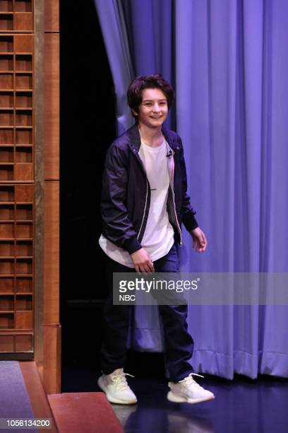 Actor Sunny Suljic arrives to the show on November 1 2018