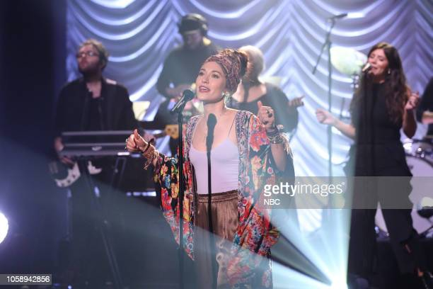 Musical guest Lauren Daigle performs on November 7 2018