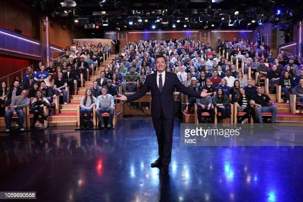 Episode 0958 -- Pictured: Host Jimmy Fallon with the Veteran's Day audience on November 9, 2018 --