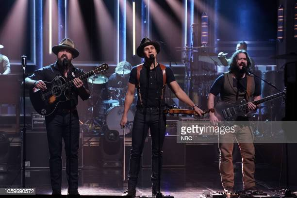 Episode 0958 -- Pictured: Musical Guest Zac Brown Band performs on November 9, 2018 --