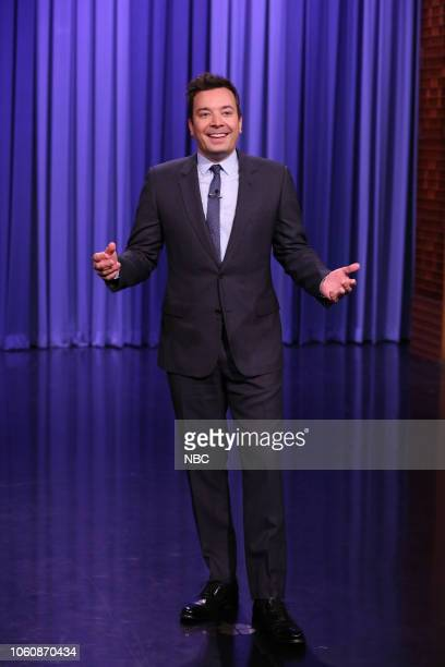 Host Jimmy Fallon during the Monologue on November 12 2018
