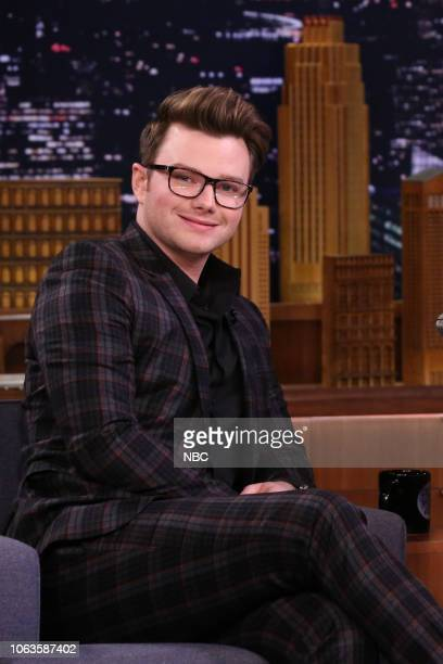 Actor author Chris Colfer during an interview on November 19 2018