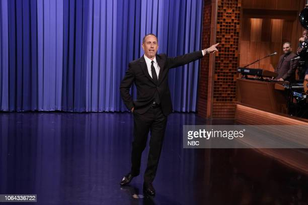 Episode 0967 -- Pictured: Comedian Jerry Seinfeld during the monologue on November 22, 2018 --